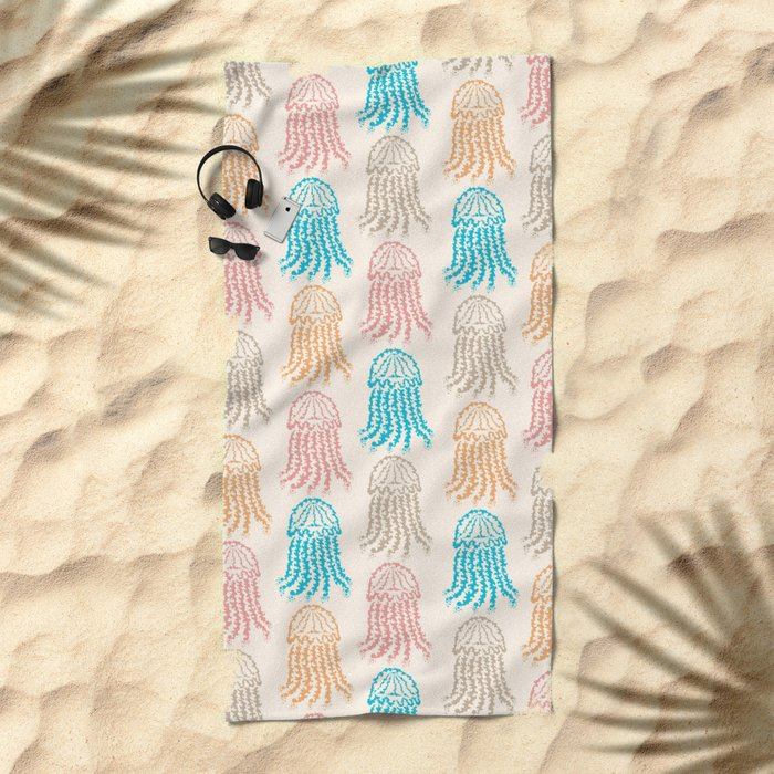 Pastel Marine Pattern 02 Beach Towel