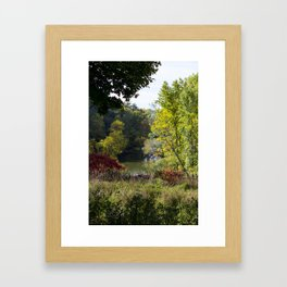 It is starting to look like Fall!! Framed Art Print