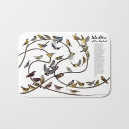 Warblers of New England Bath Mat
