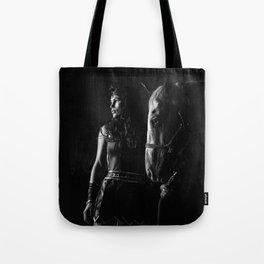 Stallion Riding with Julia Tote Bag