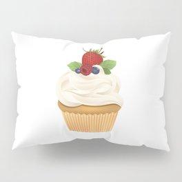 Red Fruit Cupcake Pillow Sham