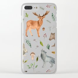 Forest team Clear iPhone Case