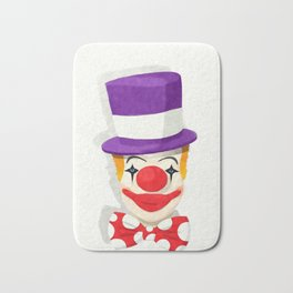 Smiling clown Bath Mat