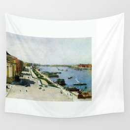 Saint Petersburg Russia Neva river and Admiralty Wall Tapestry