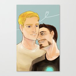 Superhusbands Fluff Canvas Print