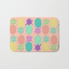pineapple small coral Bath Mat