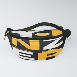 Pittsburgh Steel City Yinzer Funny Yinz Home Town 412 Word Art Fanny Pack