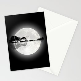 Moonlight Nature Guitar Stationery Cards
