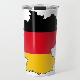 Germany Map with German Flag Travel Mug