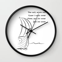 vikings Wall Clocks featuring This will never end, Vikings by ZsaMo Design