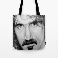 zappa Tote Bags featuring ZAPPA by Rob Delves