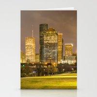houston Stationery Cards featuring houston skyline by franckreporter