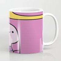 princess bubblegum Mugs featuring Princess Bubblegum  by lapinette