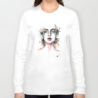 broken Long Sleeve T-shirts featuring Broken by Veronika Weroni Vajdová