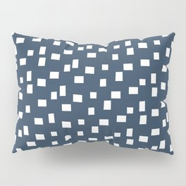 Rectangles 1 | Pattern in Indigo and White Pillow Sham