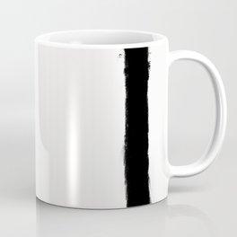 Square Strokes Black on White Coffee Mug