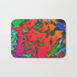 Shattering red tigers Bath Mat