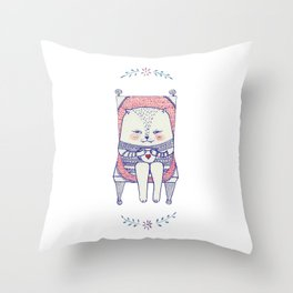 my favourite chair Throw Pillow