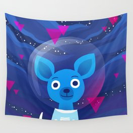 Space Pup Wall Tapestry