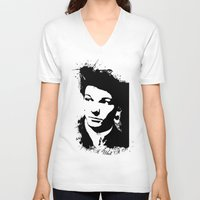 louis tomlinson V-neck T-shirts featuring Louis Tomlinson by Aki-anyway
