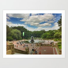 Central Park Postcard Art Print