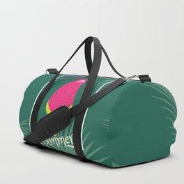 Watermelon Ice Cream Tropical Palm leaves Hello Summer Duffle Bag
