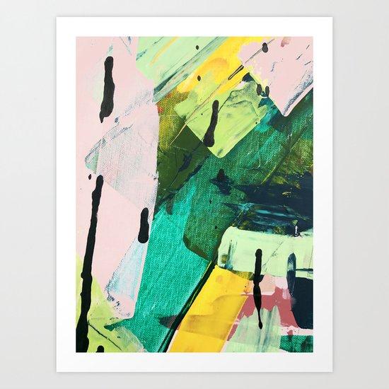 Hopeful[4] - a bright mixed media abstract piece Art Print