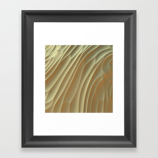 Buttercream Framed Art Print
