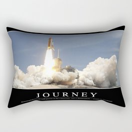 Journey: Inspirational Quote and Motivational Poster Rectangular Pillow