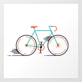 speed bike Art Print