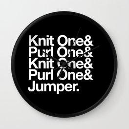 Knitting Wall Clock