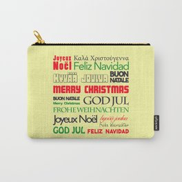 merry christmas in different languages I Carry-All Pouch
