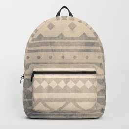 Ethnic geometric pattern with triangles circles shapes and lines Backpack