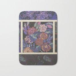 beautiful vintage floral pattern Bath Mat