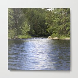 Relaxing View To The Lake Metal Print