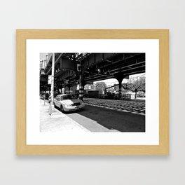 'Tracks' Queens, New York Framed Art Print