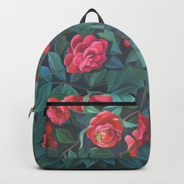 Camellias, lips and berries. Backpack