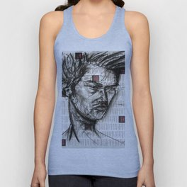 Warrior - Charcoal on Newspaper Figure Drawing Unisex Tank Top