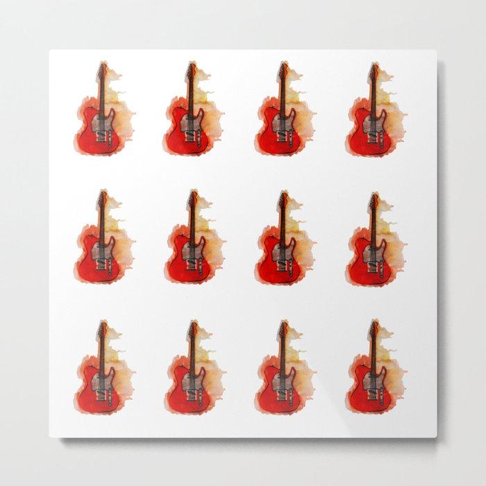guitar pattern Metal Print