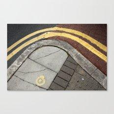 Kerb curves Canvas Print