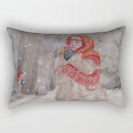 Hiding gnome Rectangular Pillow
