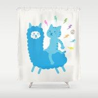 Alpaca Rider Shower Curtain