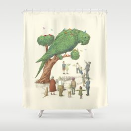 The Parrot Tree Shower Curtain