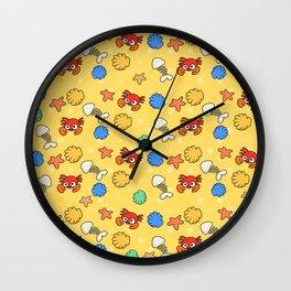 Crabs Pattern Wall Clock