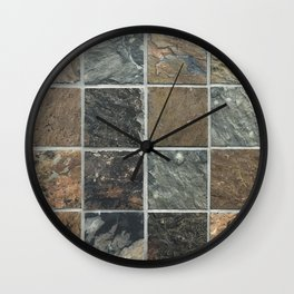 Desert Colored Stone Tiles Pattern Wall Clock