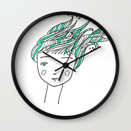 Wet Hair Wall Clock