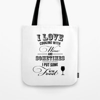 wine Tote Bags featuring Wine by Horváth László