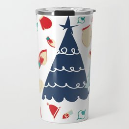 Christmas tree blue Travel Mug