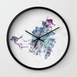 St Martin map Wall Clock