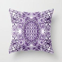 Grape Wash Zentangle Tile Doodle Design Throw Pillow